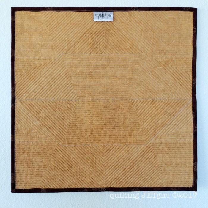 Combinatorics Mini Quilt - Quilt Backing