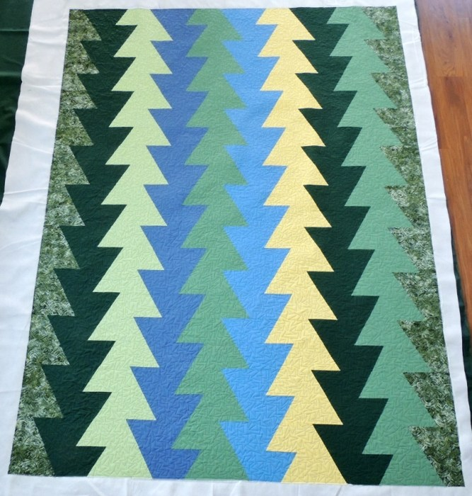 #NotMyQuilt Northern Lights (JayBird Quilts) - Quilted
