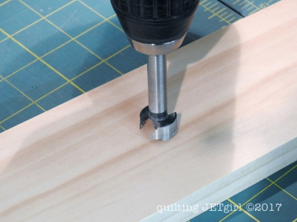 DIY Quilt Ladder - Step 6 - Drill Holes