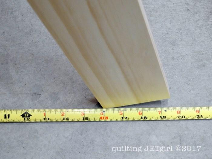 DIY Quilt Ladder - Step 3 - Measure Angles