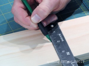 DIY Quilt Ladder - Step 5 - Mark Holes