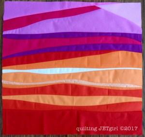 Improv Patchwork - Sunset Mini - Pieced Top Evaluation