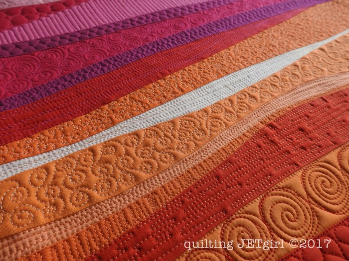 Improv Patchwork - Sunset Mini - Quilting Detail