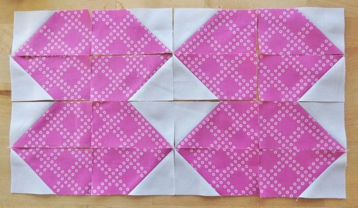 Magnolia Mystery Quilt - Half Geese Blocks