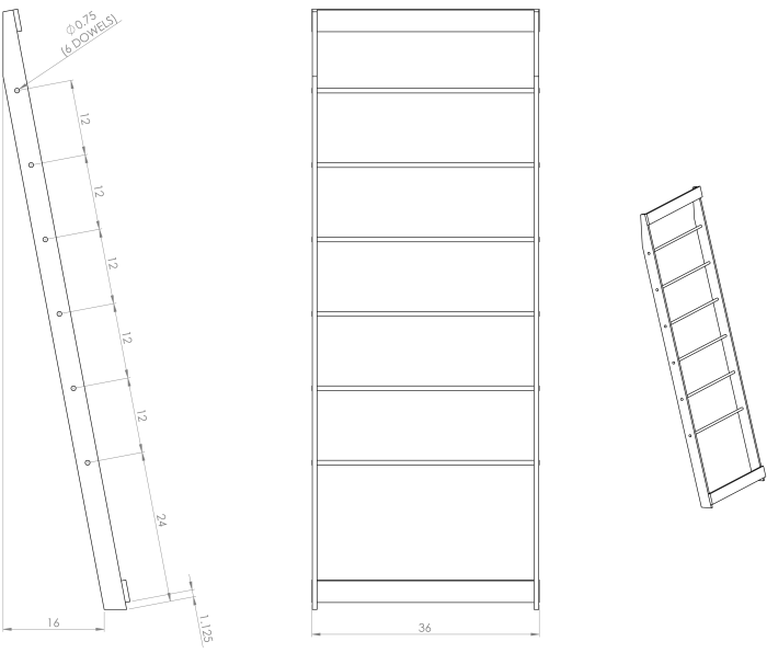 Quilt Ladder Dimensions