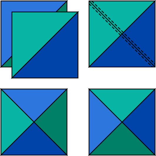 Quarter-Square Triangles (QSTs)