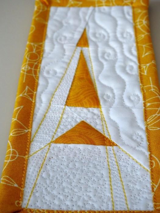 Joy Mini Mini Quilt - Detail