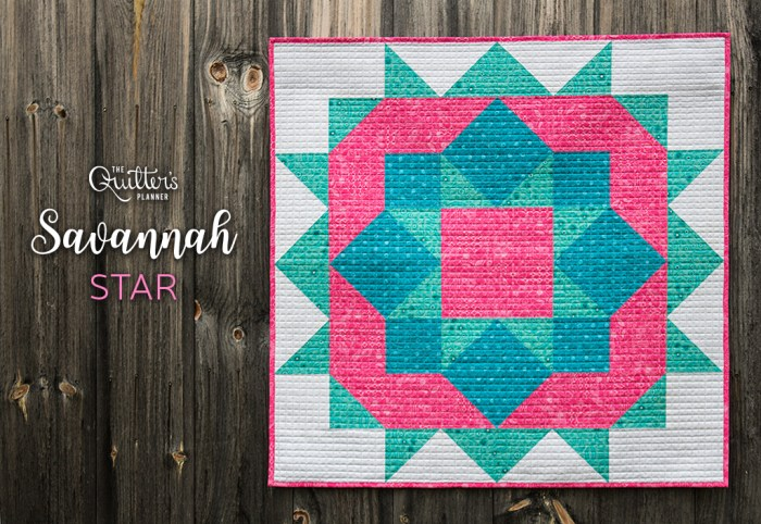 Savannah Star for The Quilter's Planner