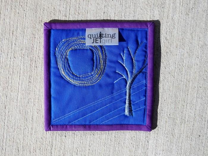 Winter Solstice Mini Mini Quilt - Backing