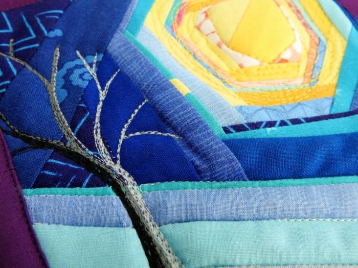 Winter Solstice Mini Mini Quilt - Detail
