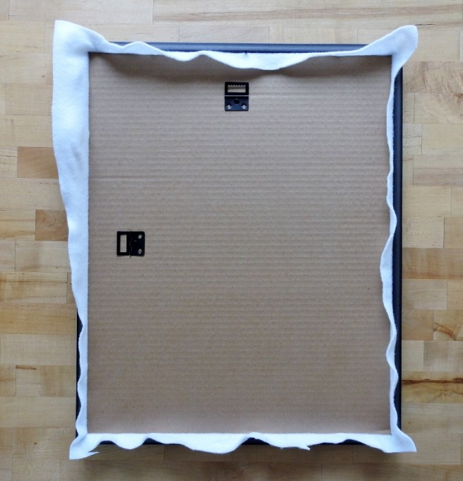 Step 5: Place Batting and Cardboard in Frame