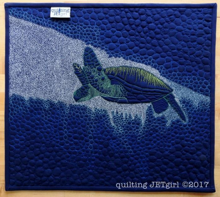 Deep Dive Mini Quilt Back