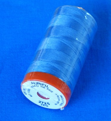Kona Cotton Astral and Aurifil 2725 Light Wedgewood