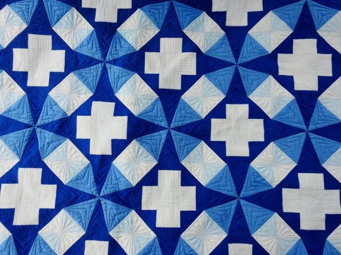 Kaleidoscope Plus - Post Wash Quilting Detail