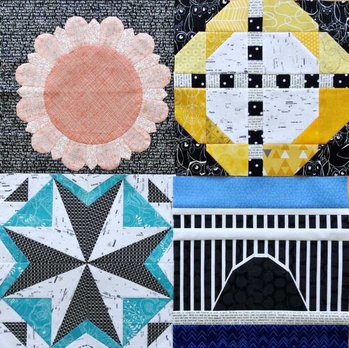 Aurifil BOM Blocks Through April