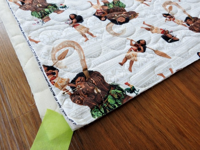 Weighted Quilt - Pin Basting