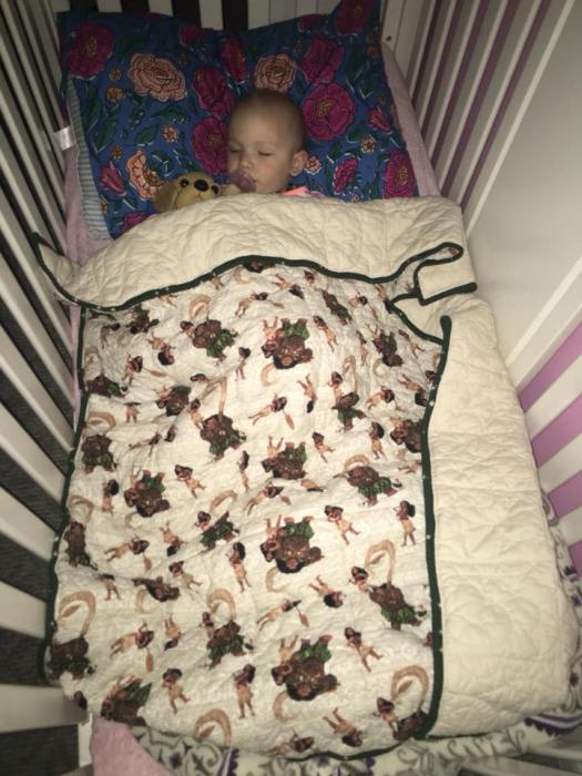 Weighted Quilt in Use