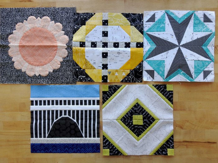 2018 Aurifil BOM Blocks Through May