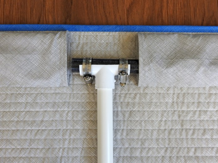 Step 3 - Insert Broom Stick Through One Hanging Sleeve