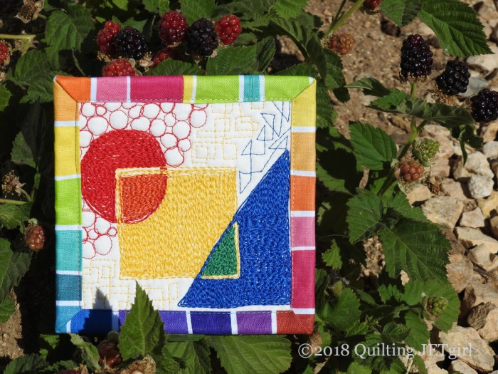 June Patreon Mini Mini Quilt - Transparency, Rainbow, Bright Colors