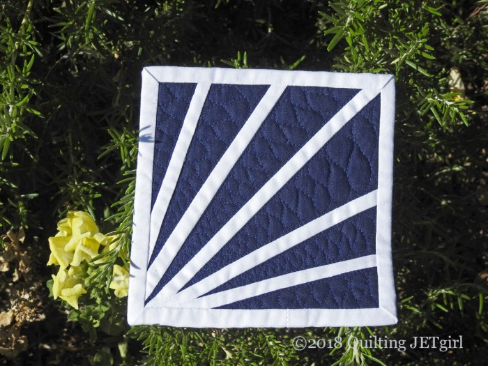 June Patreon Mini Mini Quilts - Navy and White
