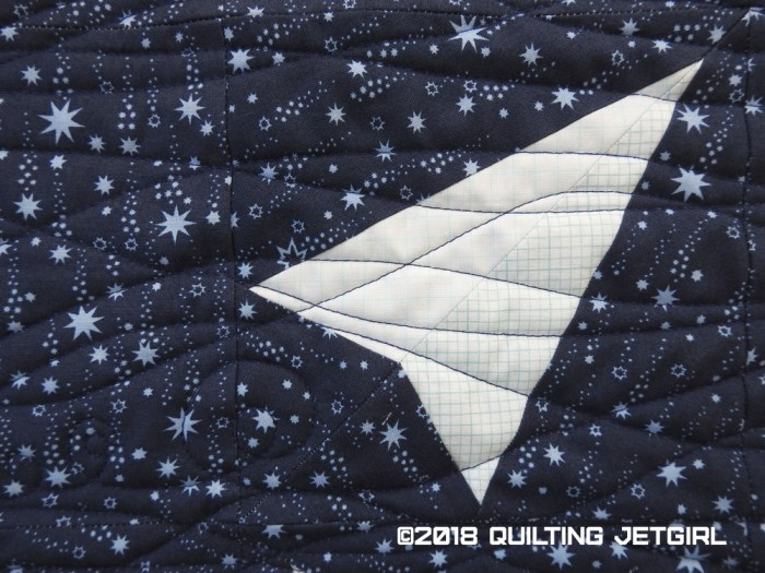 Combinatorics Paper Airplanes and Stars: Paper Airplane and Quilting Detail