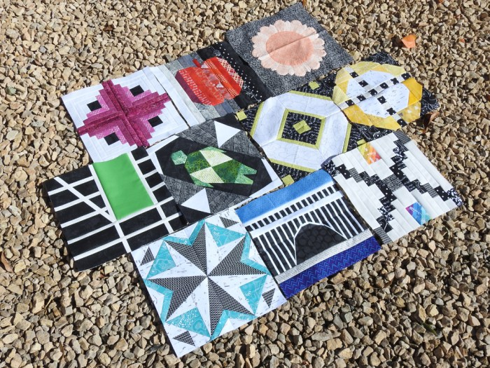2018 Aurifil BOM Blocks Through October