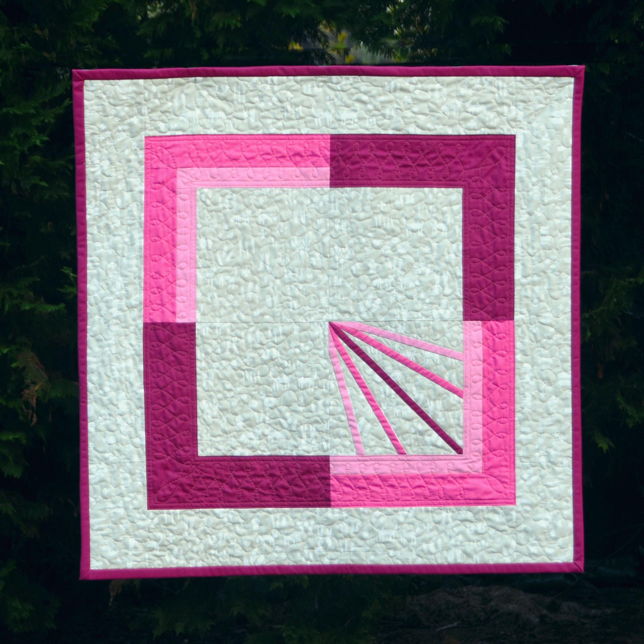 Diffraction Block Baby Quilt by Cheryl Brickey