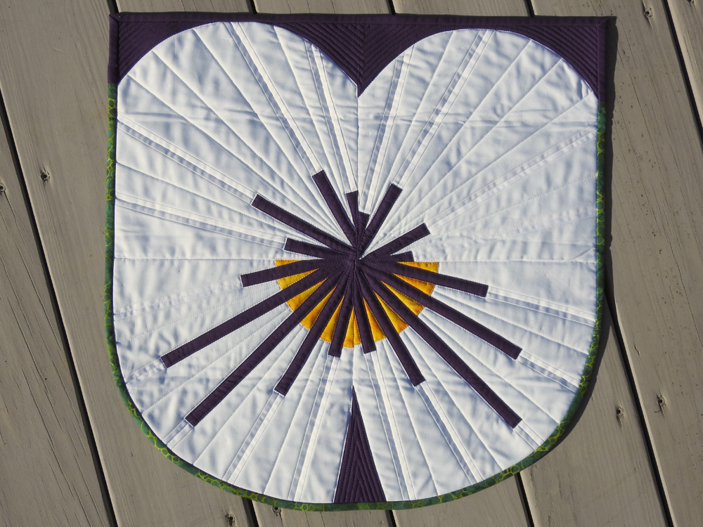 Pansy Challenge {Mini Quilt}