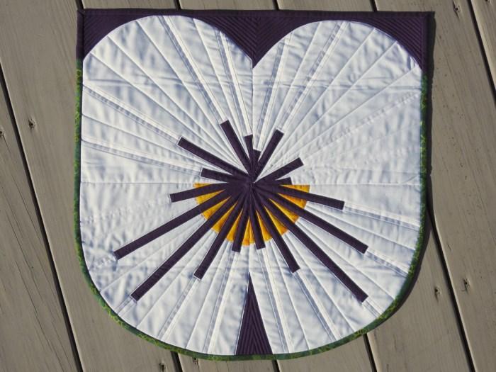 Pansy Challenge Mini Quilt
