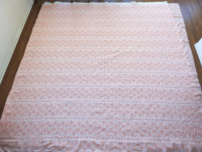 Vintage Quilt – Finished Quilting / Backing