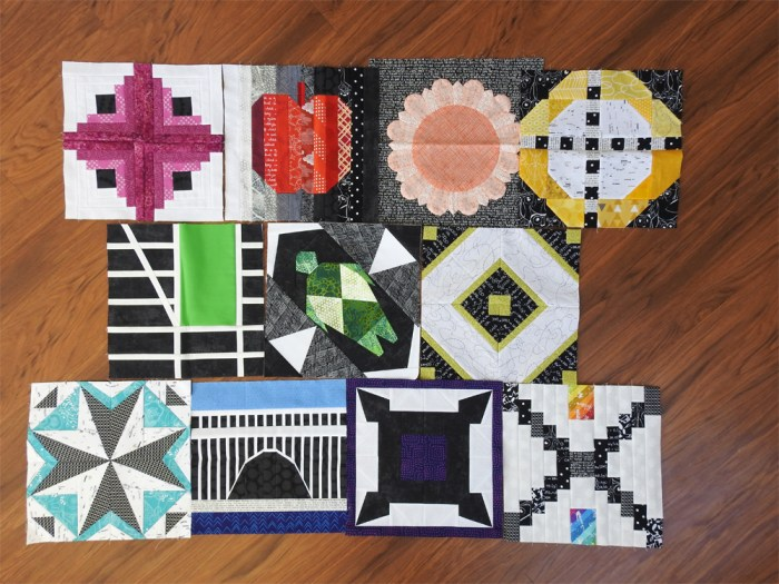 2018 Aurifil BOM Blocks Through November
