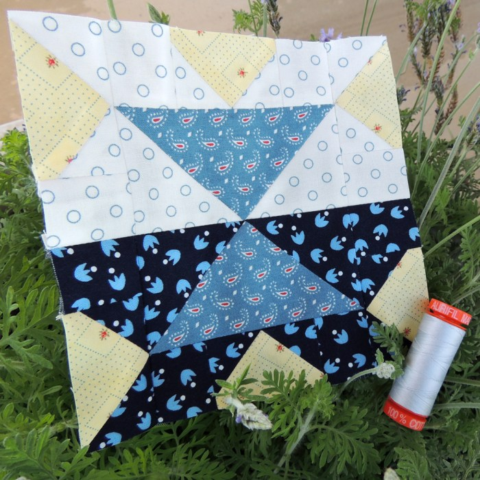 Balancing Reflection by Yvonne Fuchs from Quilting Jetgirl for The Splendid Sampler 2