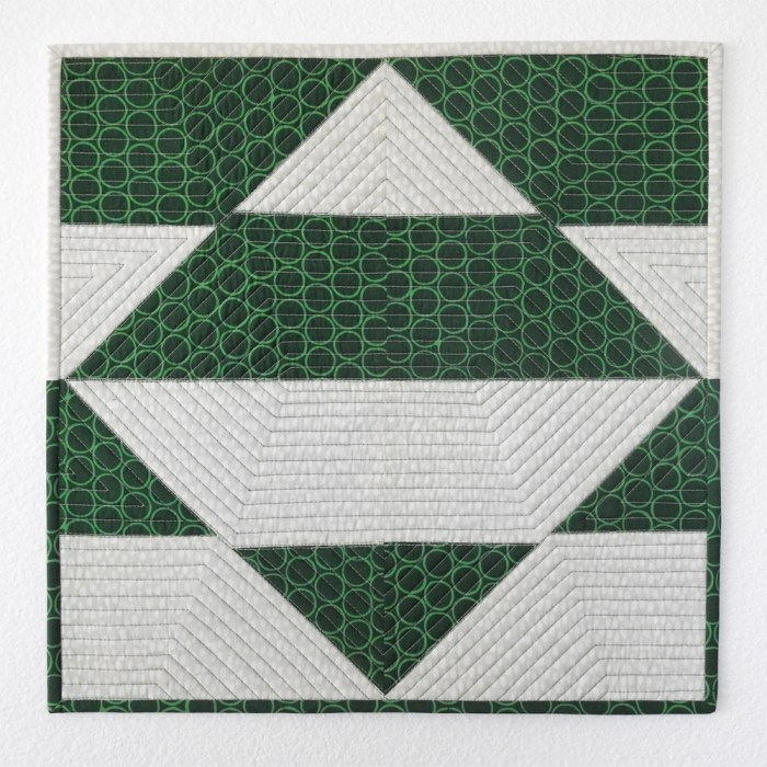 Combinatorics Introductory Tutorial Mini Quilt
