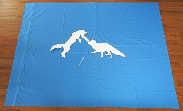 Fox Wholecloth Quilt - Positioning the Foxes