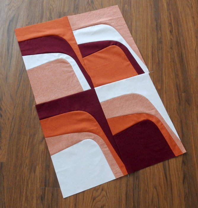 Rust Mini Quilt Pieced Top