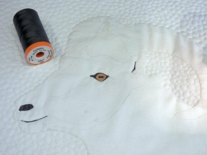 Stone Sheep Mini Quilt – Aurifil 4241