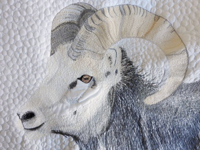 Stone Sheep Mini Quilt: Progress So Far