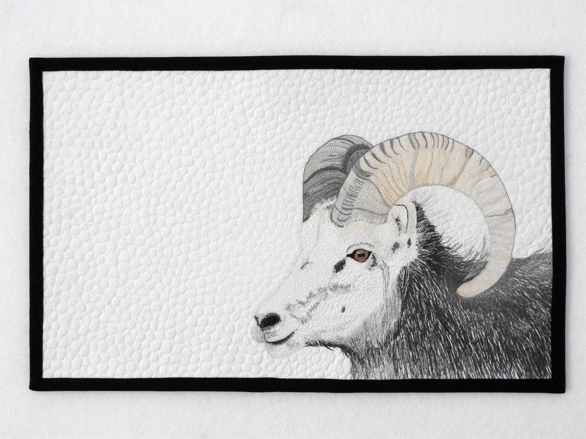 Stone Sheep Mini Quilt
