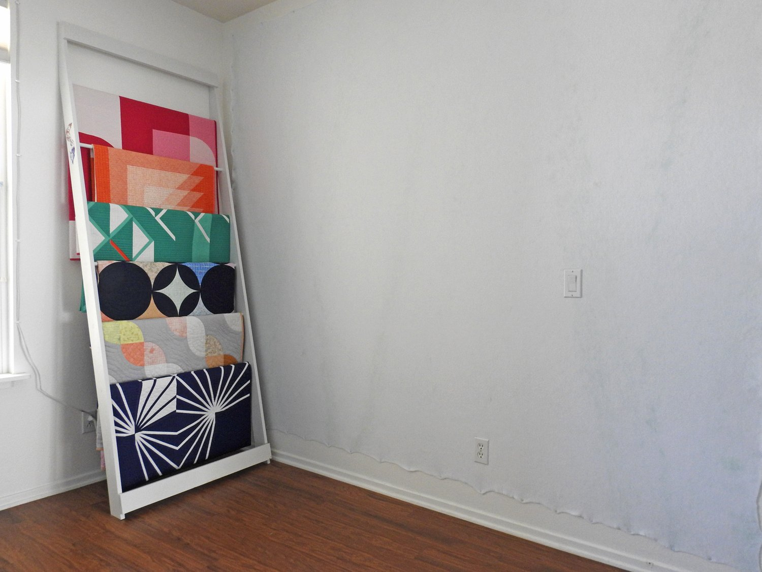 Quilt Ladder Refresh - Blank Design Wall - Time for Something New!
