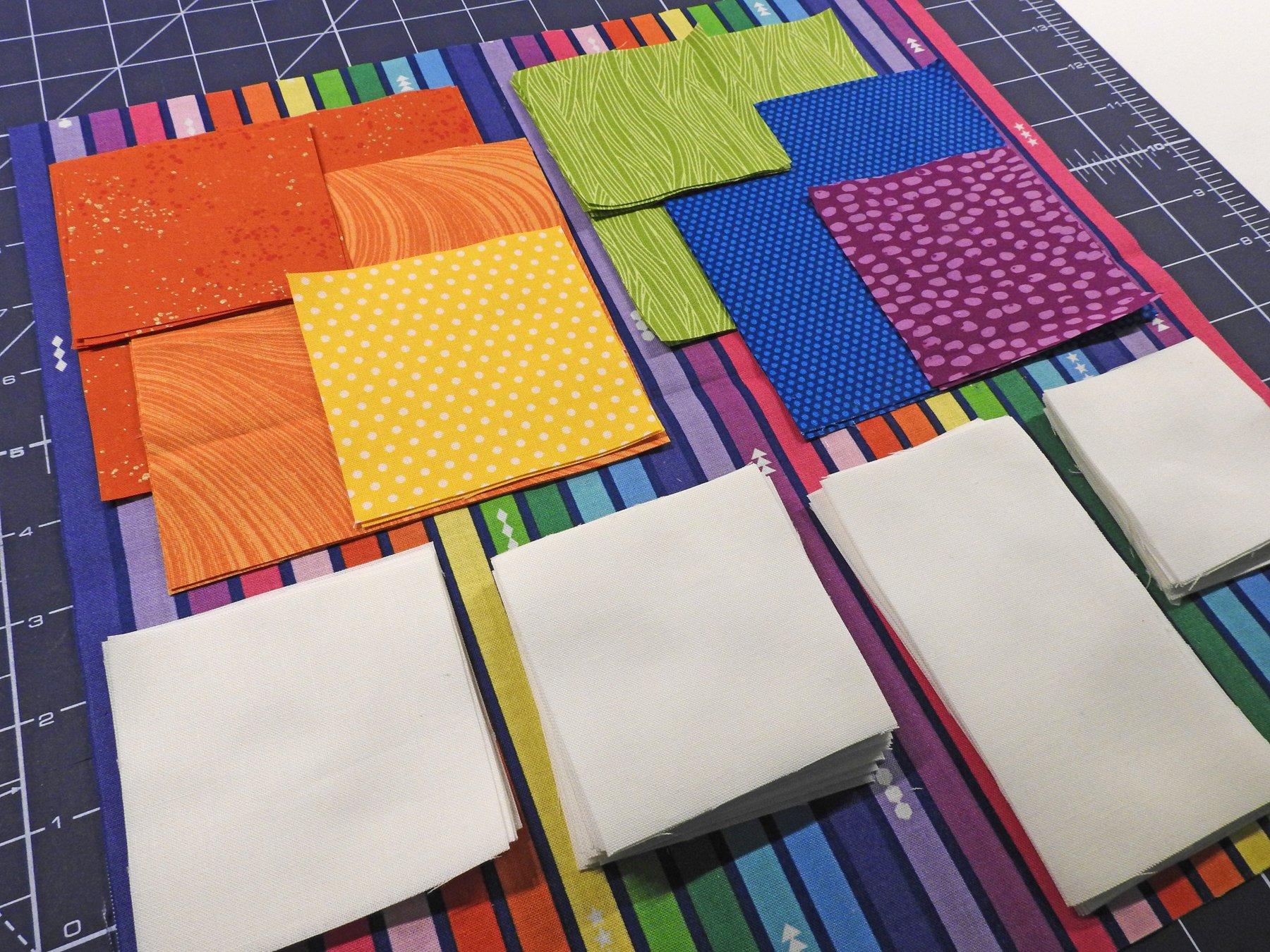Bokeh QAL - Cut Fabric