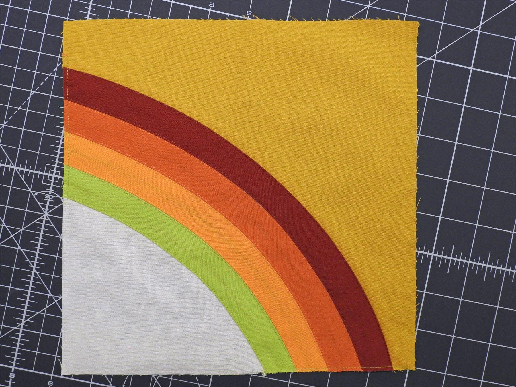 Block 3 - Improv Curve and Bias Tape Applique