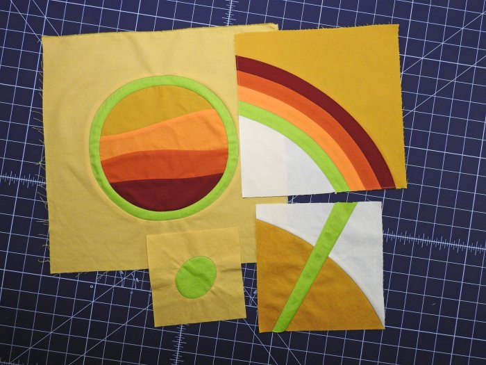 Group Quilt Blocks 1-4