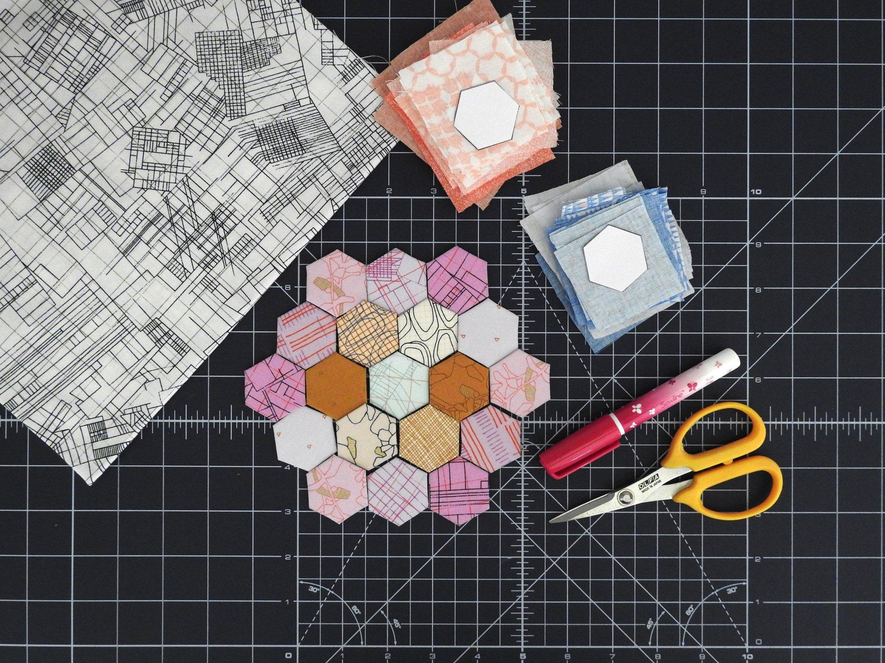 April Hexie Block Preparation - Old School BOM
