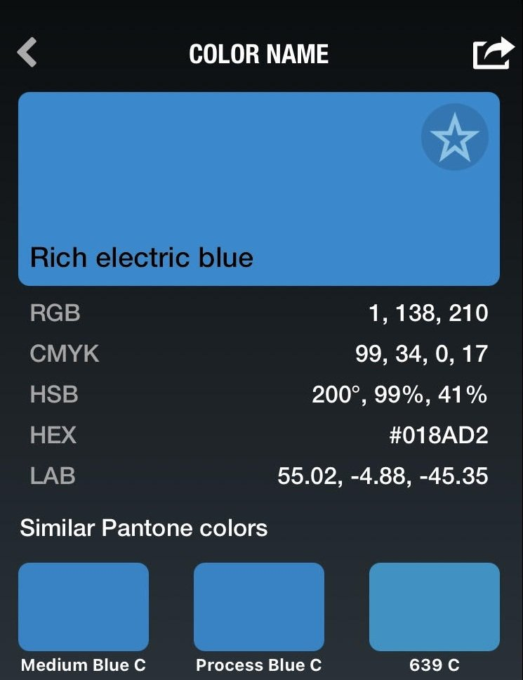 Rich Electric Blue