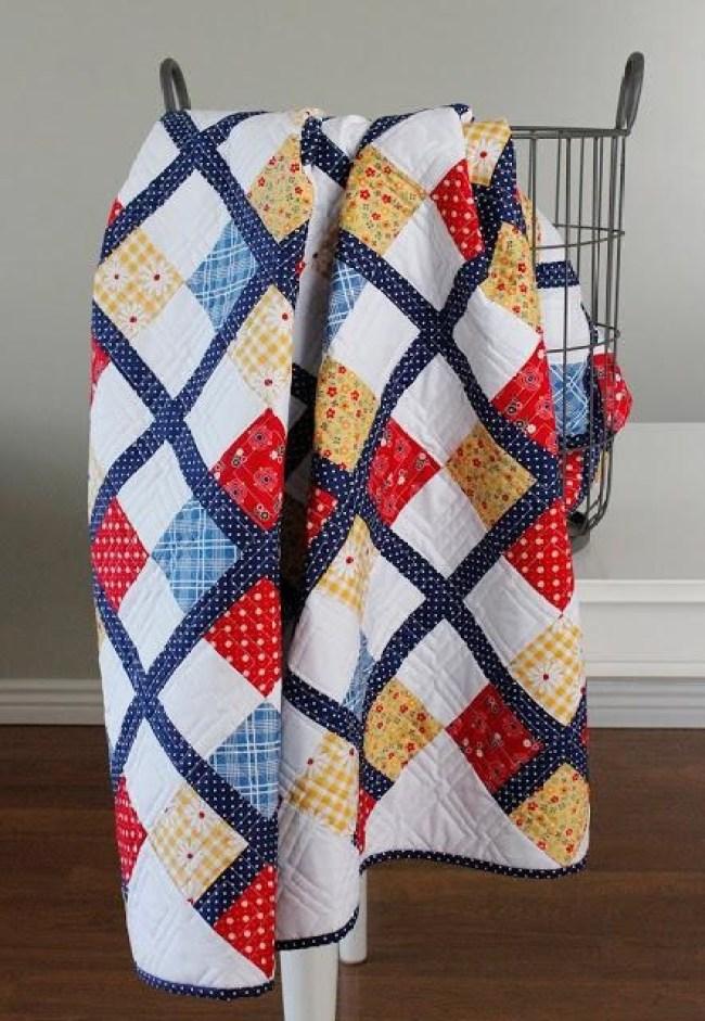 Five Fat Quarter Fun Preppy Quilt Pattern