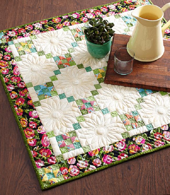 Flower Power quilt table
