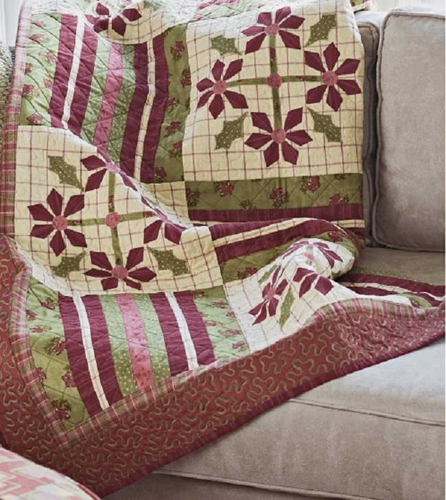 Holiday Blooms Quilt 2