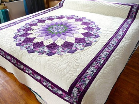 Giant Dhalia Quilt Pattern Free 5