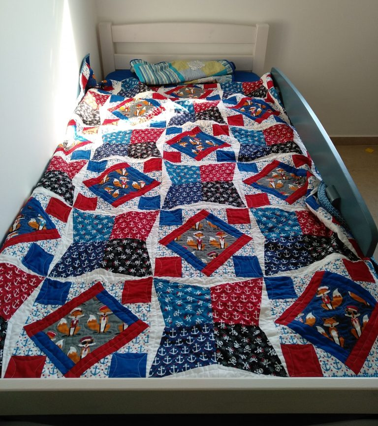 Yishai Pirate Foxes Quilt
